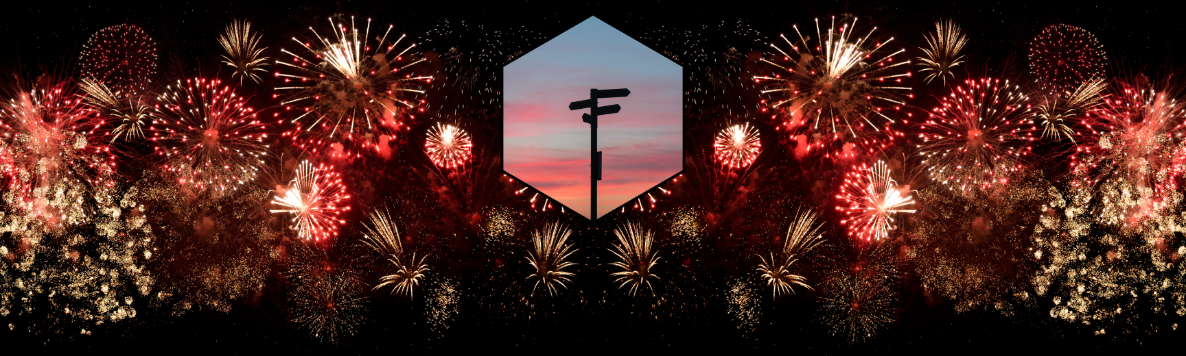 Fireworks and Signpost